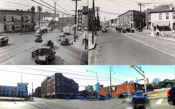 Historic photos courtesy of the Indiana State Library; Panoramic photo by Joan Hostetler, January 2015