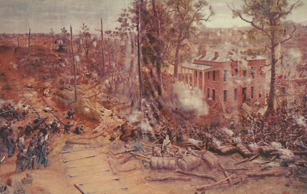 The Battle of Atlanta that once hung in the cyclorama (Courtesy ebay)