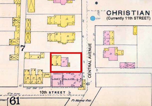 1887 Sanborn Fire Insurance Map #69 (IUPUI University Library)