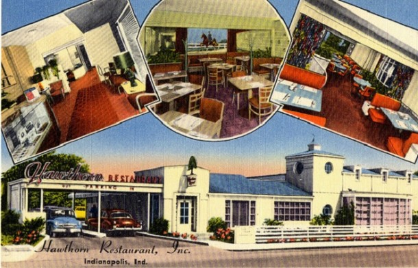 The Hawthorn Restaurant stood where the current McDonald's sits at 16th and Meridian (courtesy Evan Finch)