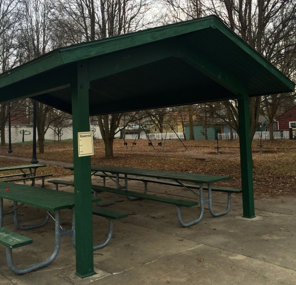 The picnic shelters at 61st & Broadway Park can be reserved by contacting Indy Parks.