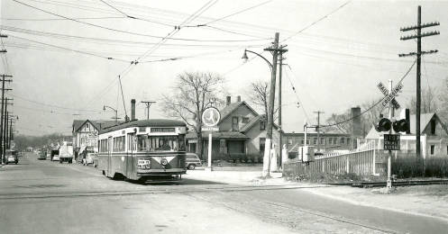 Streetcar service brought new visitors to Broad Ripple Village. Image: The Indiana Historical Society