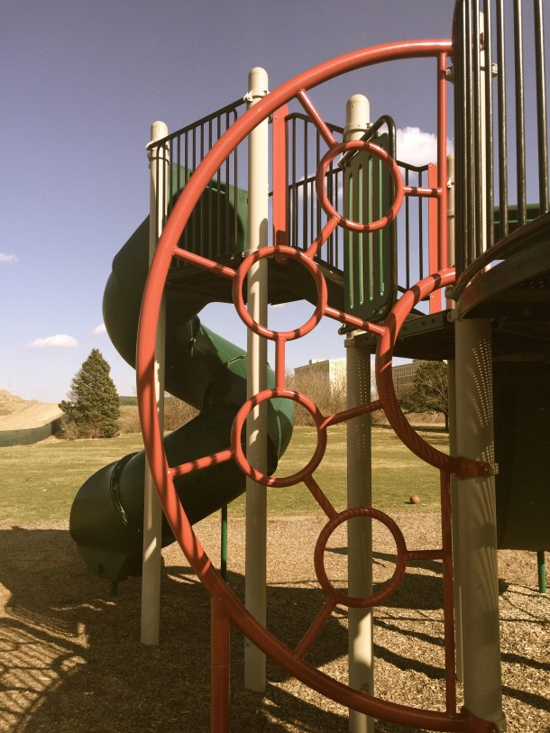 The playground at Reverend Mozel Sanders Park is popular among its younger neighbors.