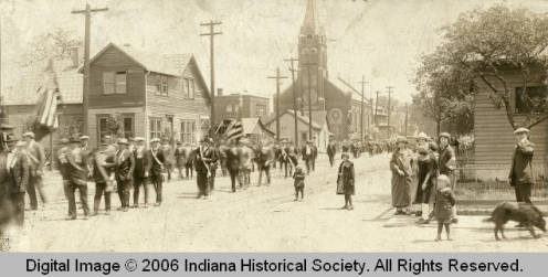 A parade in Haughville in the 1920s