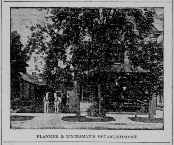 Flanner & Buchanan's Establishment, 172 N Illinois St -- Indianapolis Journal