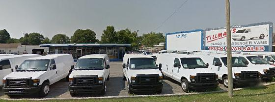The hot rods and carhops have been replaced by work vans as an auto dealership now occupies the former Pole drive-in restaurant.