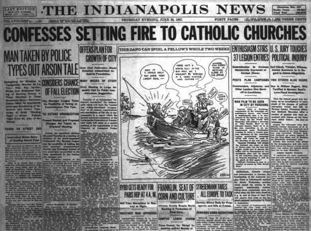 Church Fires - Indianapolis News, June 23, 1927 (1)