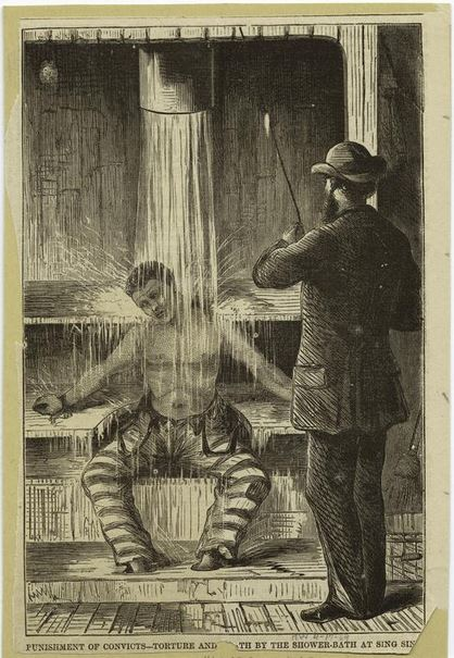 Punishment of Convict at Sing Sing -- 1869