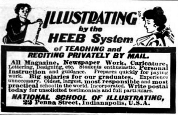 Sunday Ads: Indy's Industrious, Illustrious Illustrators