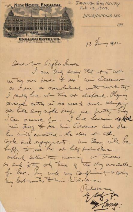 Stoker Letter January 1902