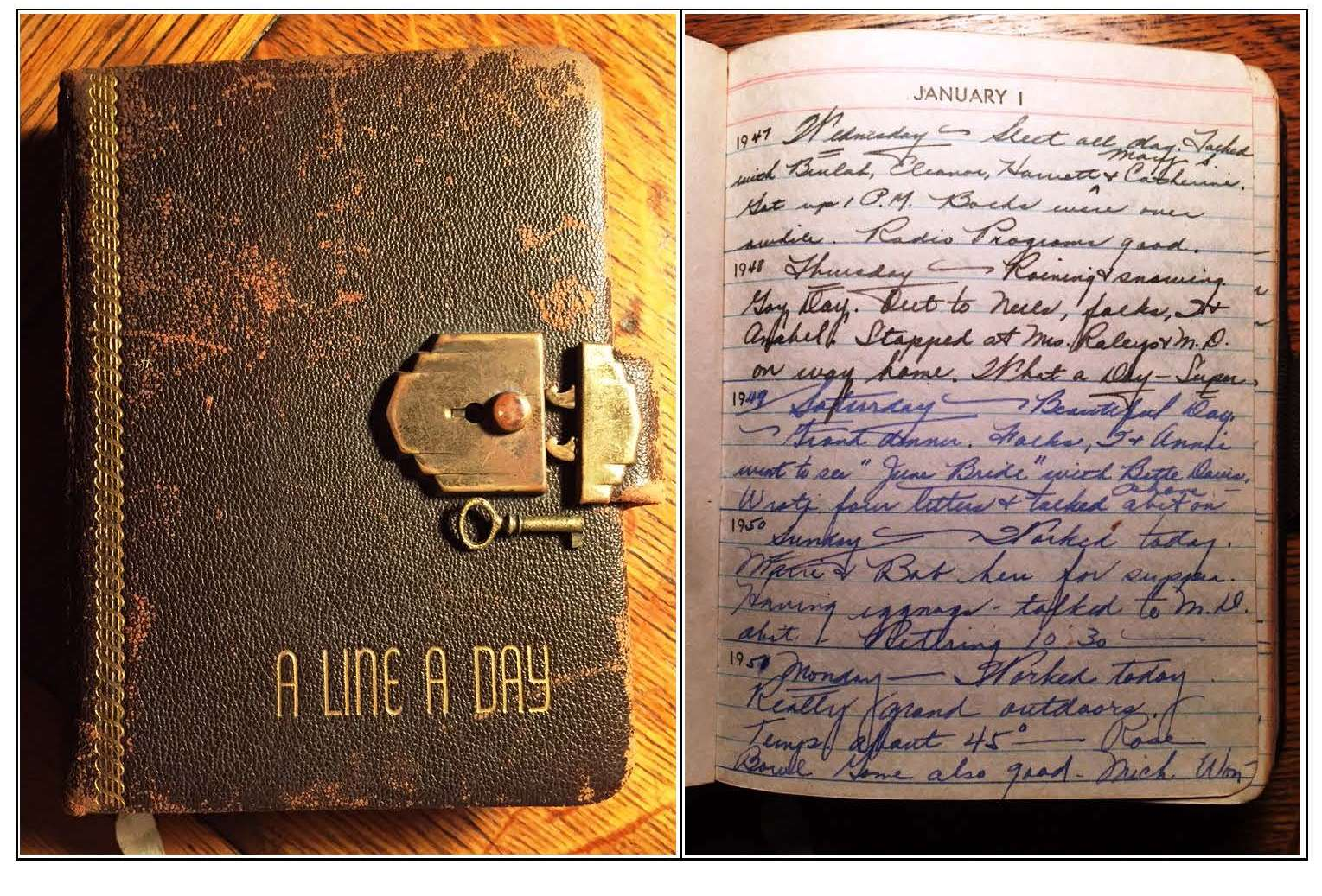 Old Fashioned Diary With Lock
