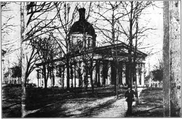 Old Indiana Statehouse circa 1860