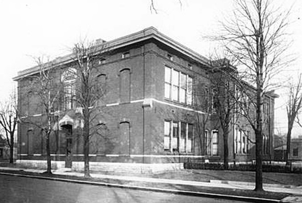 Lew Wallace School 11 (W. H. Bass Photo Company Collection, courtesy of the Indiana Historical Society)