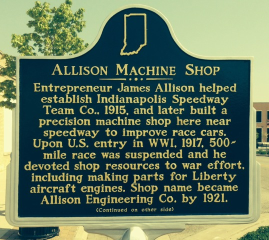 Allison State Marker side 1