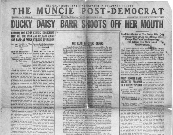 Muncie Post-Democrat, December 7, 1923