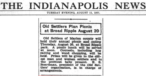 (1931 Indianapolis News clipping courtesy of newspapers.com) CLICK TO ENLARGE