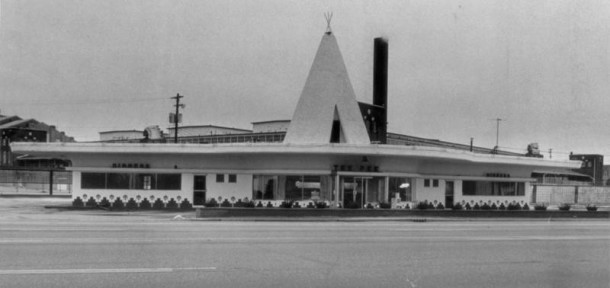 The original Tee Pee had a distinctive appearance (photo courtesy of Indianapolis Star)