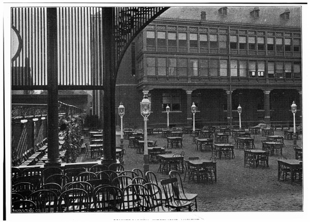 A familiar site for many. The beer garden at the Athenaeum (Courtesy of The Athenaeum Foundation)