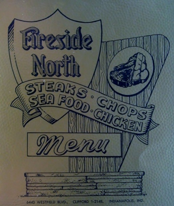 A rare menu cover from the short-lived north location. According to city directories it seems the location operated between 1960 and 1964 (Courtesy eBay)