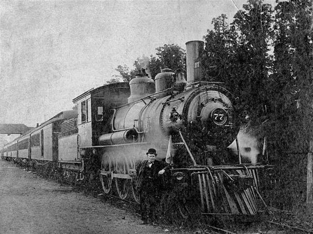 The Monon Railroad carried passengers to the Old Settlers Reunions (scan courtesy of )