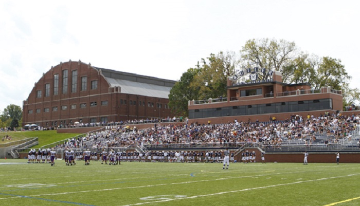The Butler Bowl as it appears today after a massive overhaul. The grassy area to the left would be approximately where the theater sat from 1954 until 2005 (courtesy Butler University)