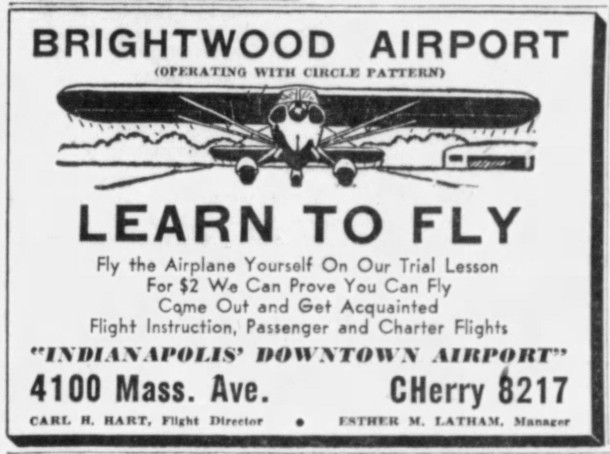 (1945 ad in the Indianapolis Star courtesy of newspapers.com)