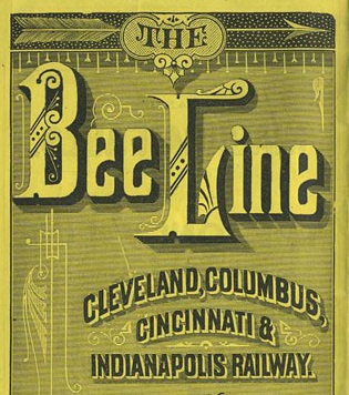 Cover page of Bee Line timetable (image courtesy of spellerweb.net)