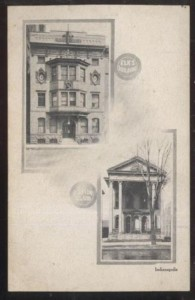 This shows how the Marion Club appeared prior to 1903 in the lower right (Courtesy eBay)