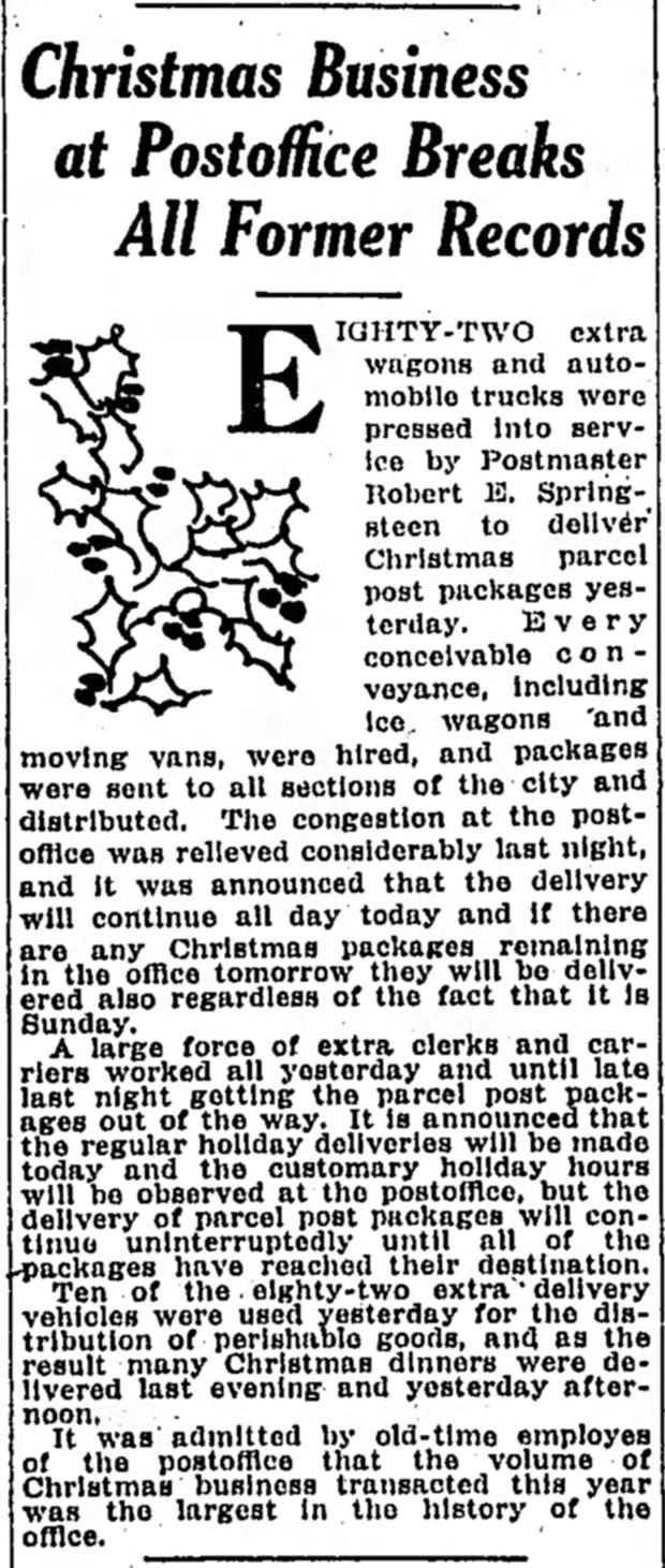 HI Mailbag: Christmas, A Century Ago - Historic Indianapolis   All ...