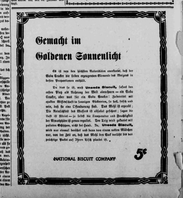 Uneeda Biscuit -- December 15, 1905
