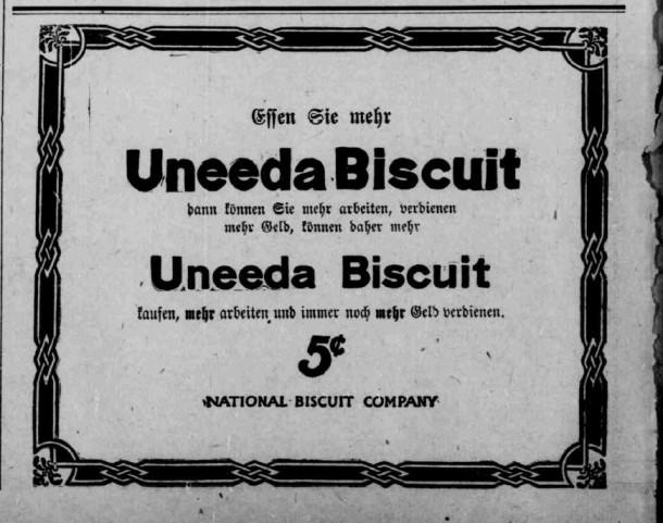 Uneeda Biscuit -- December 22, 1905