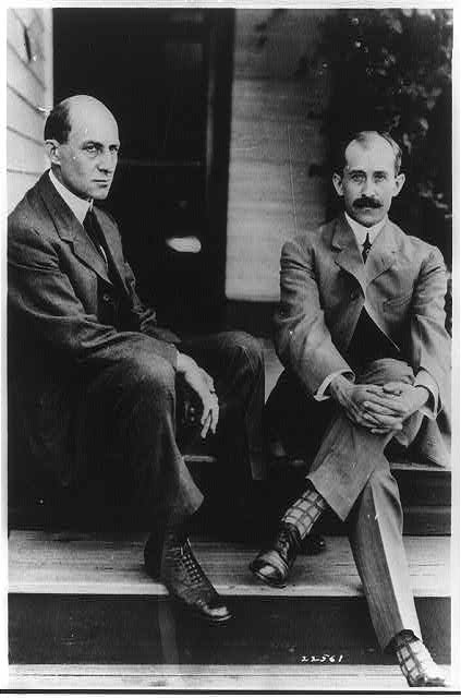 Wilbur and Orville Wright provided many of the planes and pilots used during the 1910 aviation meet (Courtesy Library of Congress)