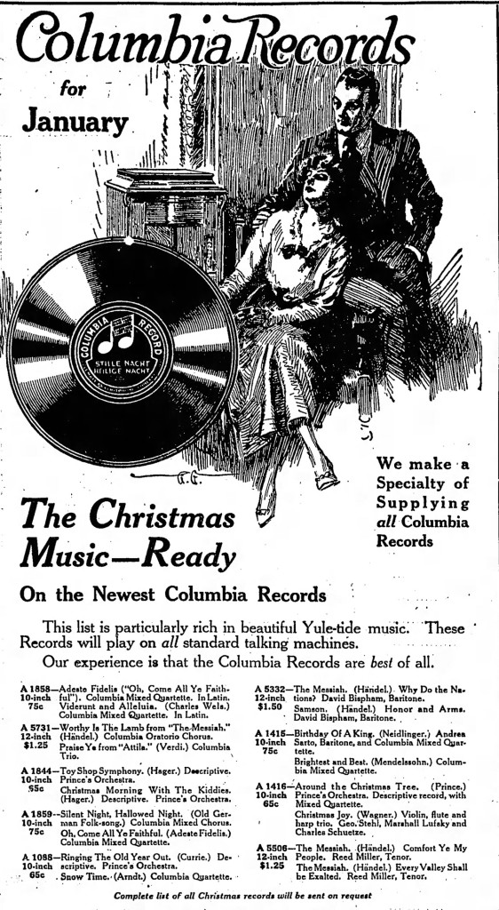 1915 ad in the Indianapolis Star for records