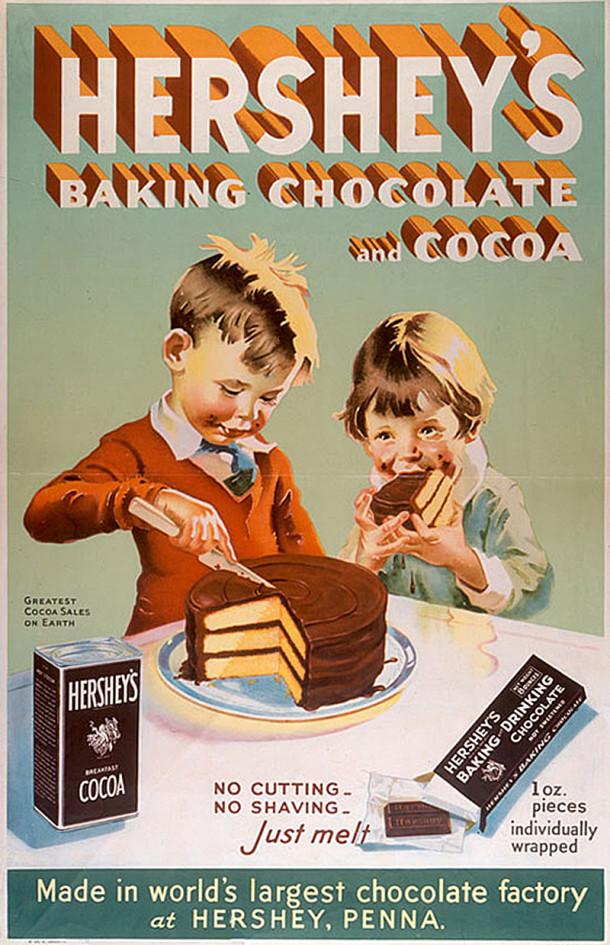 1915 Hershey's Chocolate ad