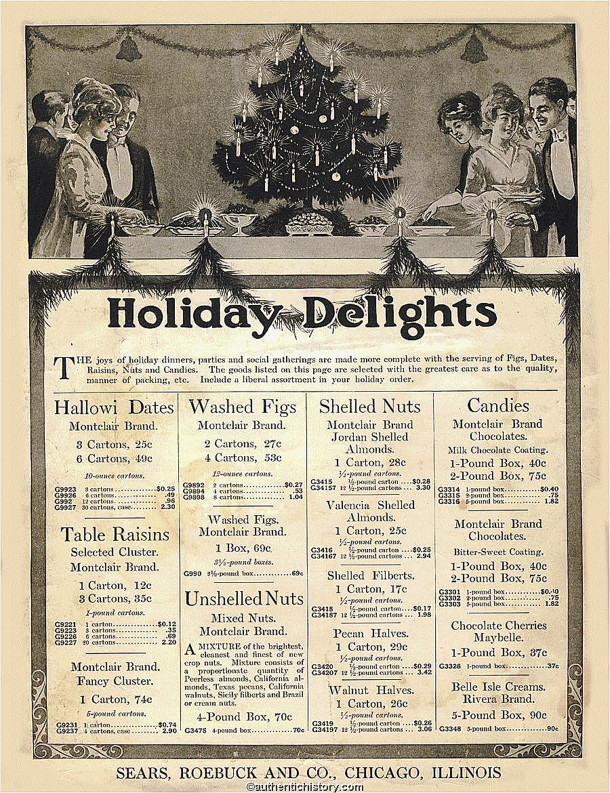 In 1915, Sears sold food