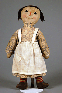 The Raggedy Ann doll was created by Johnny Gruelle in 1915 (image courtesy of raggedyannraggedyanydolls.com)