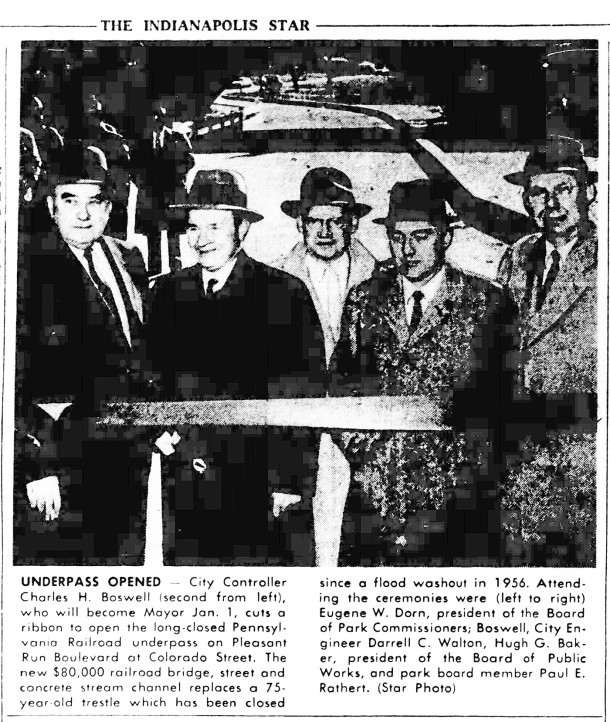 November 27, 1958 clipping from The Indianapolis Star (courtesy of newspapers.com)