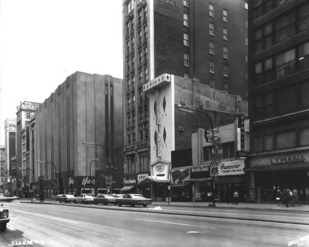 A 1960's view of East Washington Street showing the Burger Chef (Courtesy Indiana State Library)
