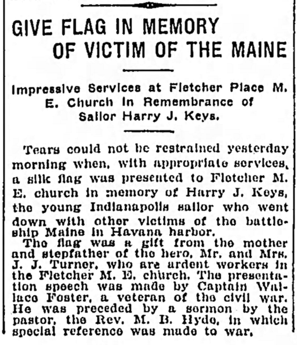 March 21, 1904 newspaper clipping courtesy of The Indianapolis News