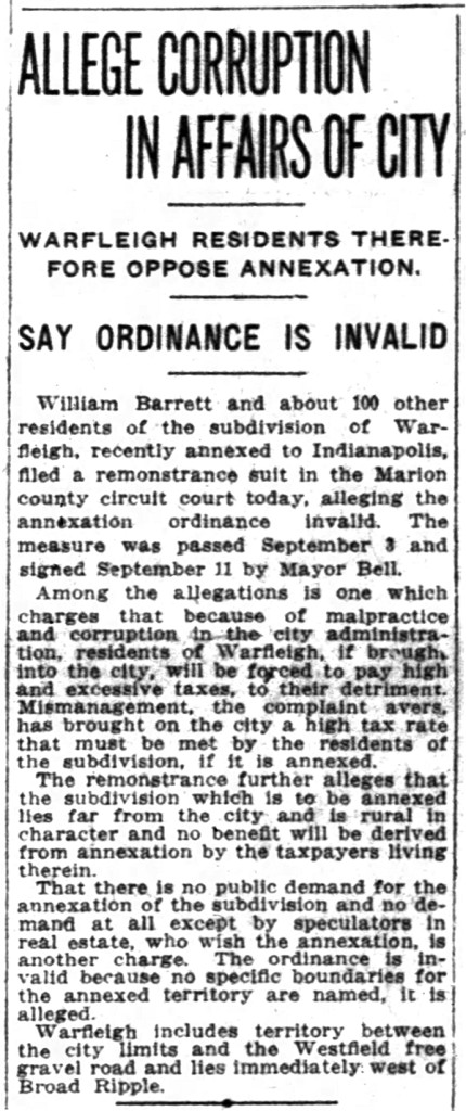 (1917 Indianapolis News article courtesy of newspapers.com)