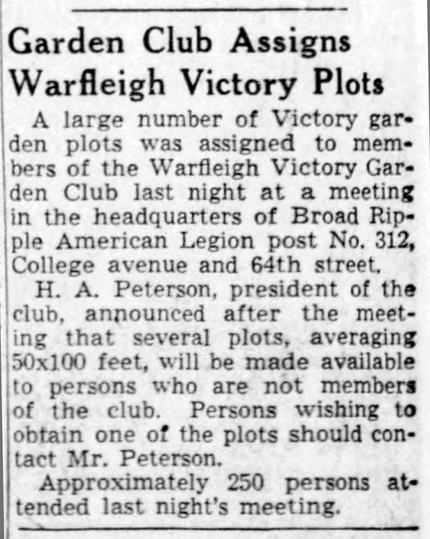 (1943 Indianapolis Star clipping courtesy of newspapers.com)