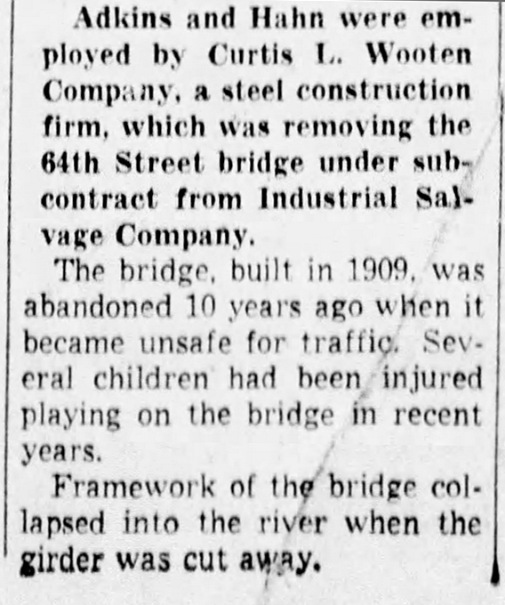 (1950 Indianapolis Star clipping courtesy of newspapers.com)