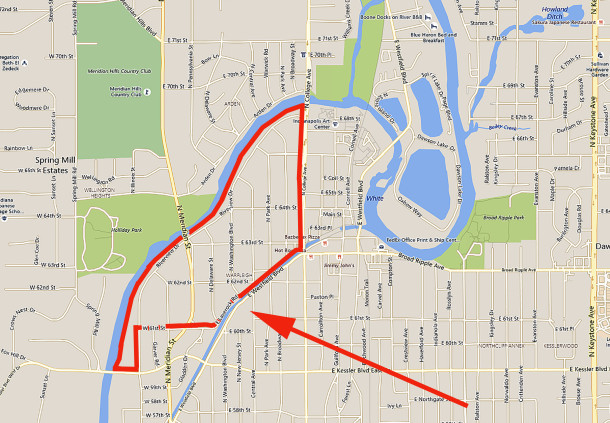 The red line defines the lots that hav a Warfleigh legal description (map courtesy of bing)