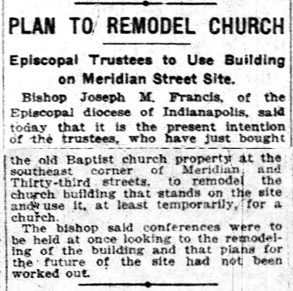 November 1, 1918 Indianapolis News clipping