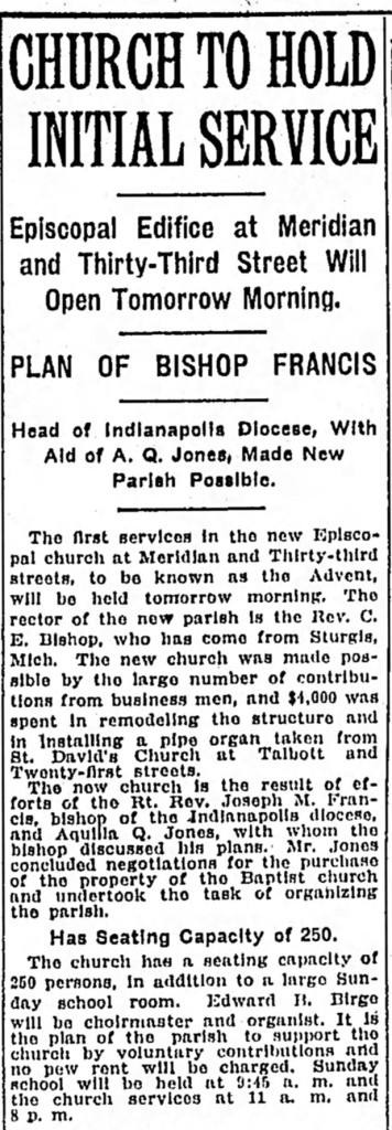 April 5, 1919 Indianapolis Star article