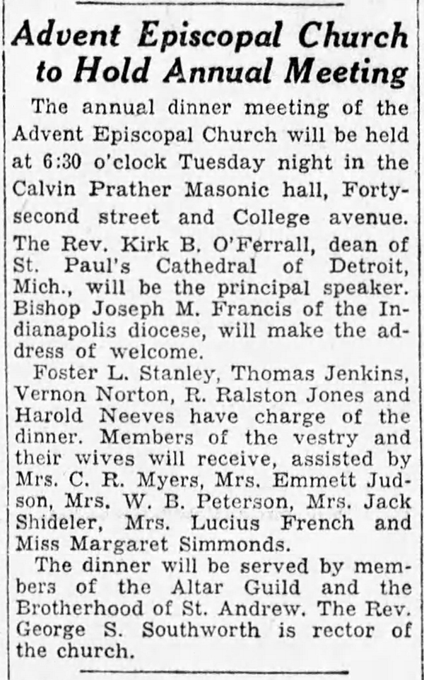 1932 Indianapolis Star article