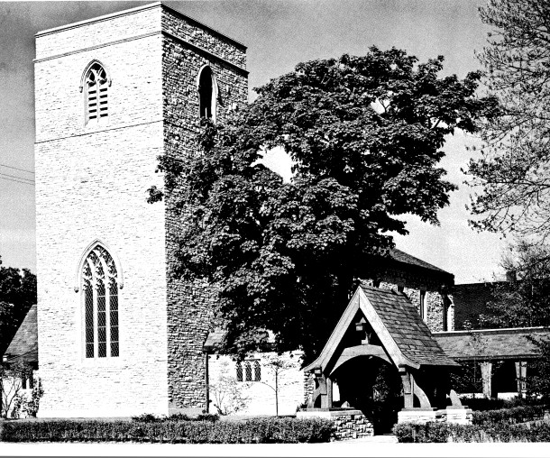 Trinity Episcopal Church as it appeared in the 1960s (photo courtesy of Trinity Episcopal Church)