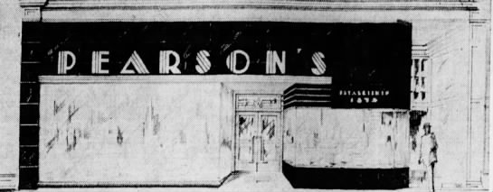 A snazzy new Art Deco facade greeted guests of the Pearson's store in the mid 30's. (Courtesy Indiana State Library)