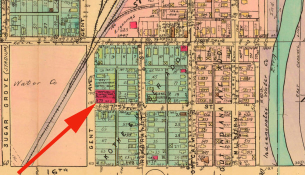 1941 Baist Atlas map shows the same occupants as the 1929 map (courtesy of IUPUI Archives)