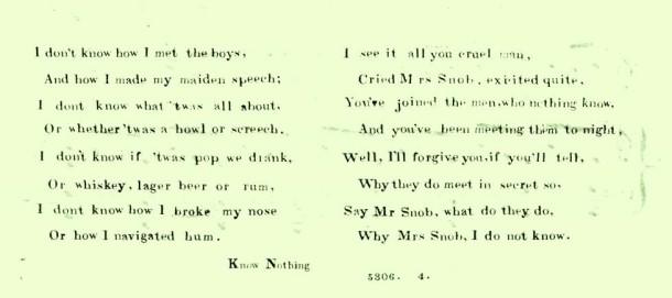Know Nothing song lyrics
